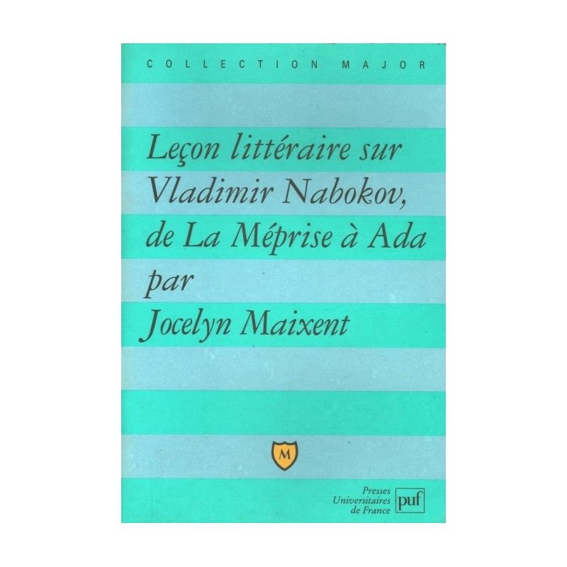 Leçon littéraire sur Vladimir Nabokov, de La Méprise à Ada