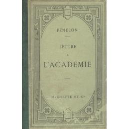 Lettre à l'Académie