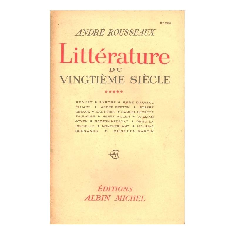 Littérature du vingtième siècle, tome V