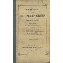 Choix de discours des Pères grecs