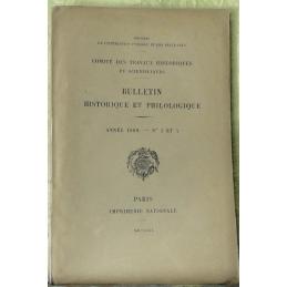 Bulletin philologique et historique (jusqu'à 1715) du Comité des travaux historiques et scientifiques - Année 1909