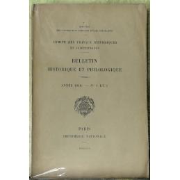 Bulletin philologique et historique (jusqu'à 1715) du Comité des travaux historiques et scientifiques - Année 1910