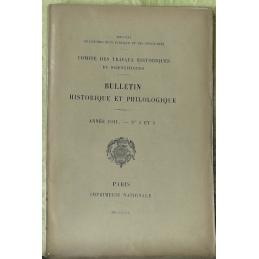 Bulletin philologique et historique (jusqu'à 1715) du Comité des travaux historiques et scientifiques - Année 1911