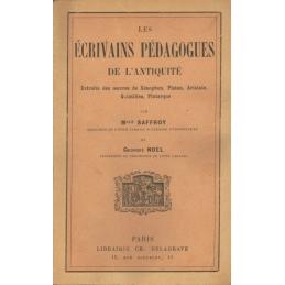 Les écrivains pédaguoges de l'Antiquité