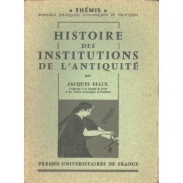 Histoire des institutions de l'Antiquité