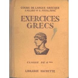 Exercices grecs, classe de quatrième et traductions et corrigés