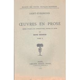 Œuvres en prose. Tomes I, II, III et IV