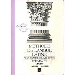 Méthode de langue latine pour grands commençants et étudiants