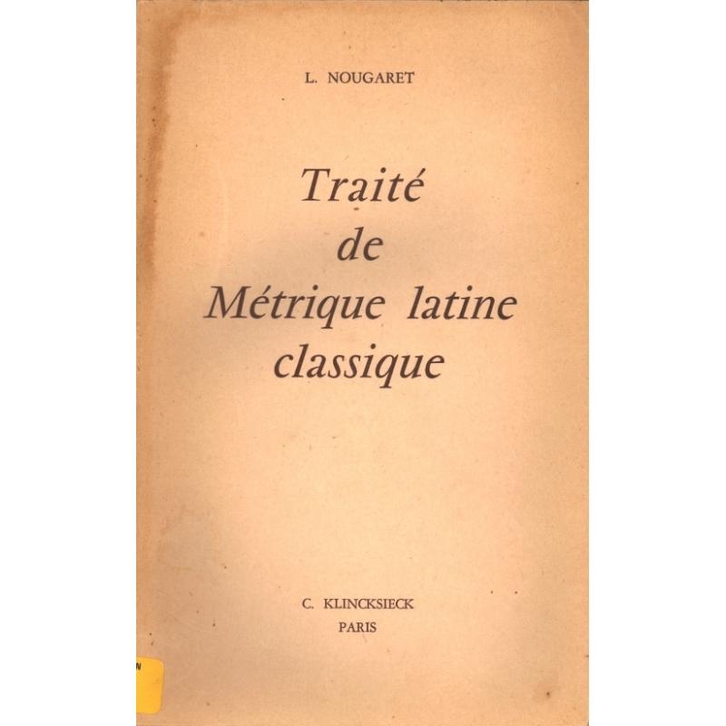 Traité de métrique latine classique