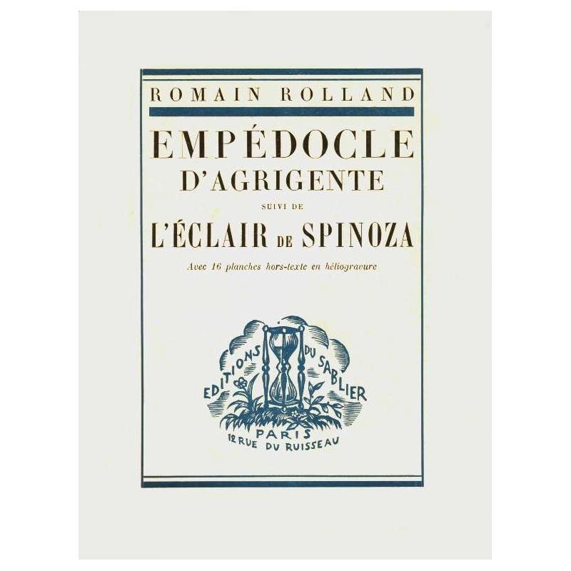 Empédocle d'Agrigente suivi de L'Eclair de Spinoza