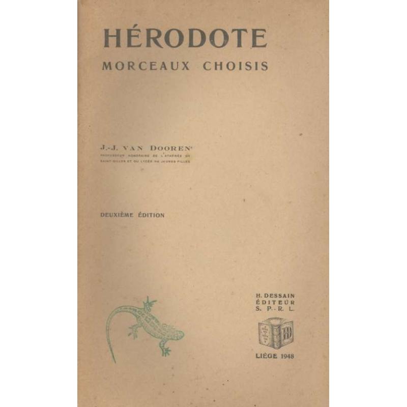 Hérodote. Morceaux choisis