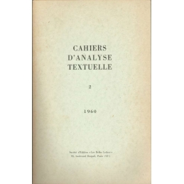Cahiers d'analyse textuelle n°2