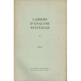 Cahiers d'analyse textuelle n°9
