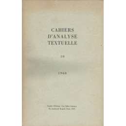 Cahiers d'analyse textuelle n°10