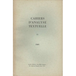 Cahiers d'analyse textuelle n°11