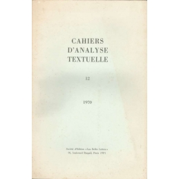 Cahiers d'analyse textuelle n°12