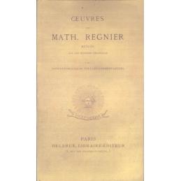 Œuvres de Mathurin Régnier