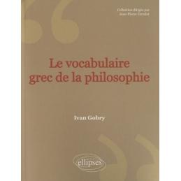 Le vocabulaire grec de la philosophie
