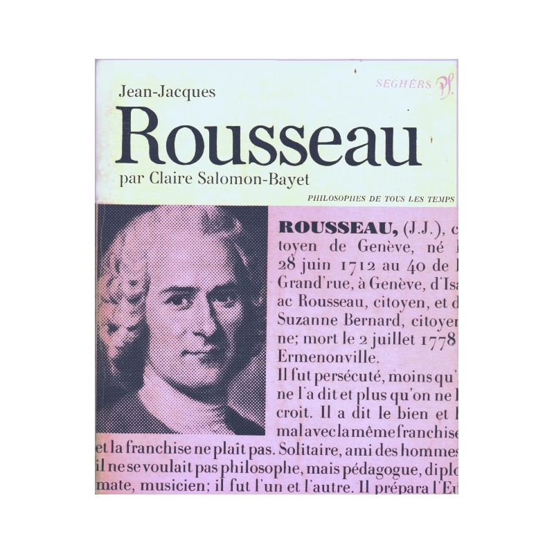 Jean-Jacques Rousseau ou l'impossible unité