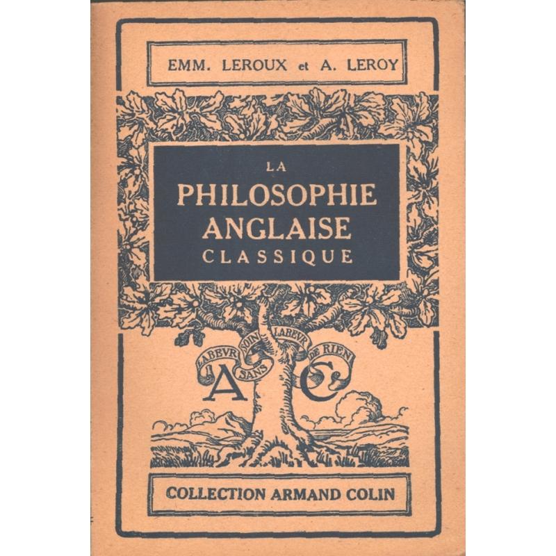 La philosophie anglaise classique