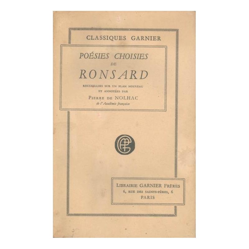Poésies choisies de Ronsard