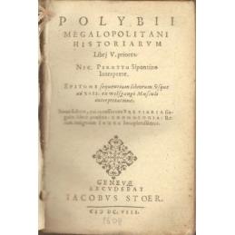 Polybii Megalopolitani Historiarum libri priores quinque. Page de titre