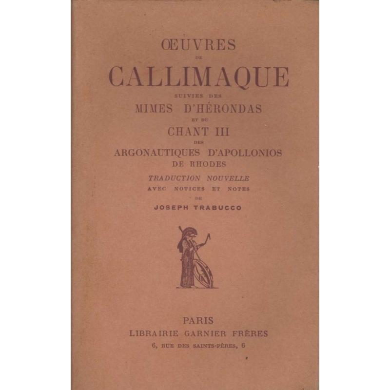 Œuvres de Callimaque suivies des Mimes d'Hérondas…
