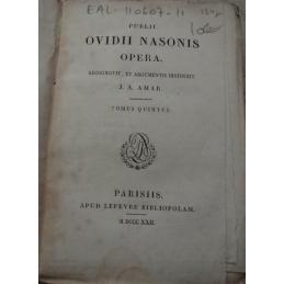 Publii Ovidii Nasonis Opera. Tomus quintus. Page de titre.