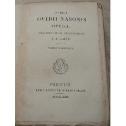 Publii Ovidii Nasonis Opera. Tomus secondus. Page de titre.