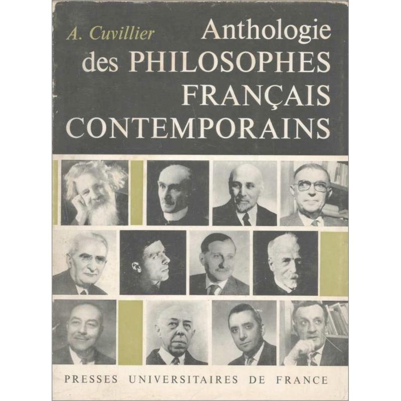 Anthologie des philosophes français contemporains