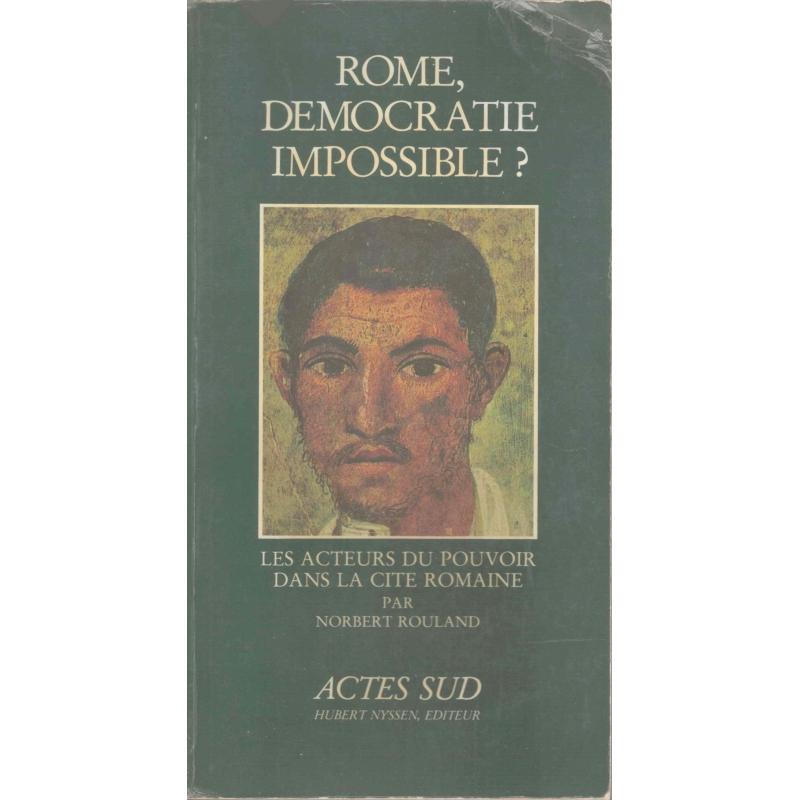 Rome, démocratie impossible ?