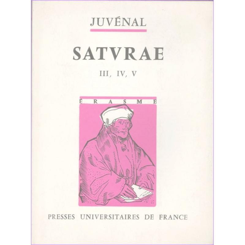 Saturae. III, IV, V