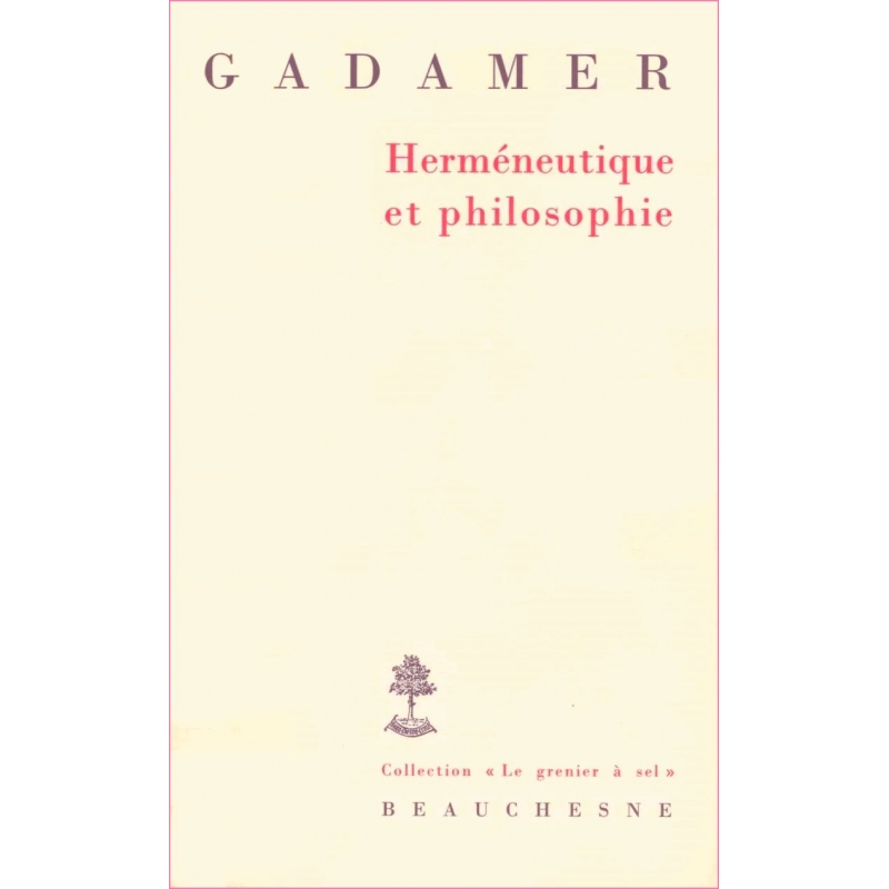 Herméneutique et philosophie