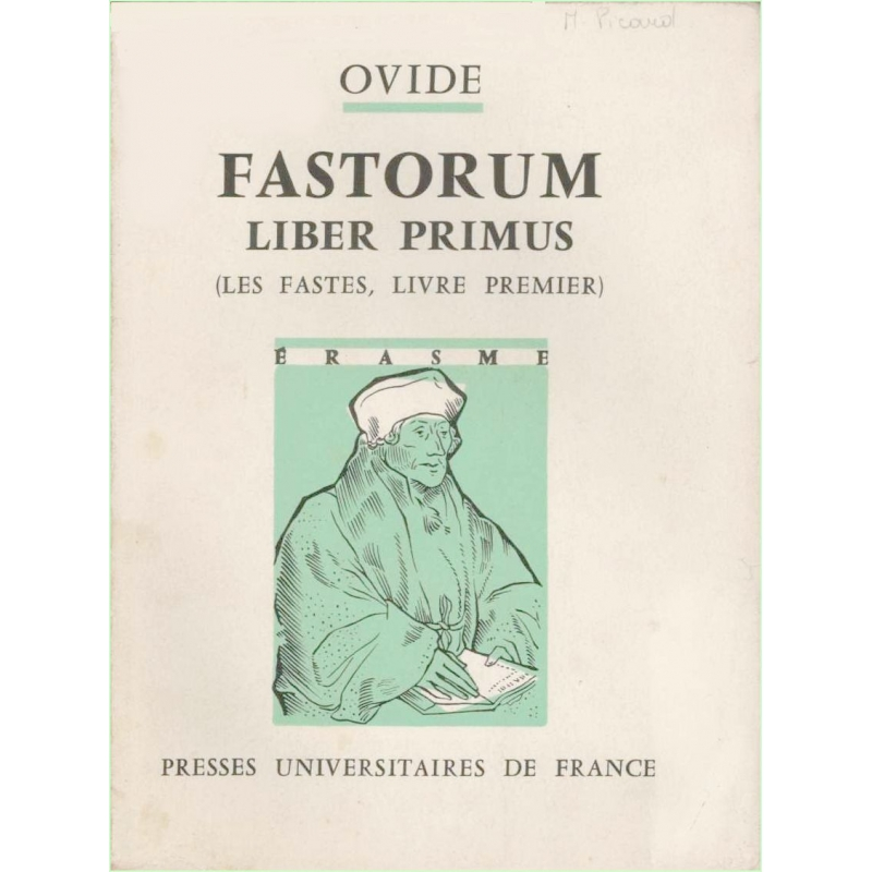 P. Ovidius Naso Fastorum. Liber primus (Les Fastes, livre premier)