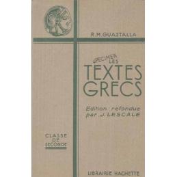 Les textes grecs. Classes de seconde