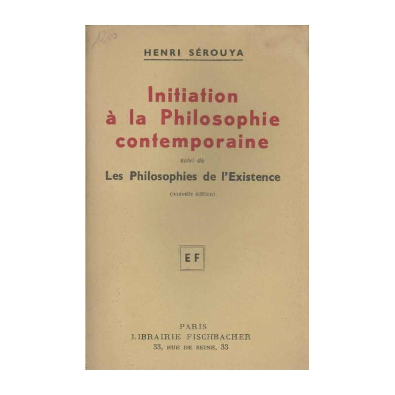 Initiation à la philosophie contemporaine