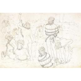 Sandro Botticelli, Illustration du chant XXXI de l'Enfer, Cabinet des Dessins et Estampes de Berlin.