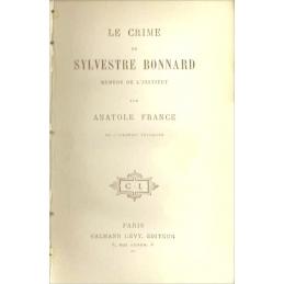 Le crime de Sylvestre Bonnard, page de titre