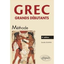 Grec grands débutants - Méthode - 4e édition