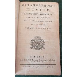 Métamorphoses, tome 1, page de titre