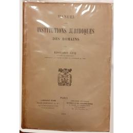 Manuel des institutions juridiques des Romains
