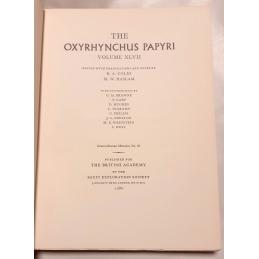 The Oxyrhynchus Papyri, Volume XLVII. Page de titre.
