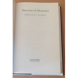 Hierocles of Alexandria. Page de titre.