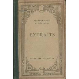 Extraits d'Aristophane et de Ménandre