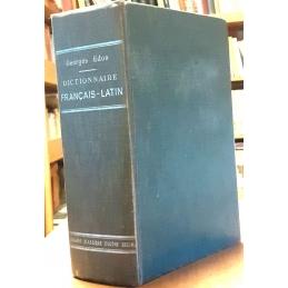 Dictionnaire français-latin. Reliure.