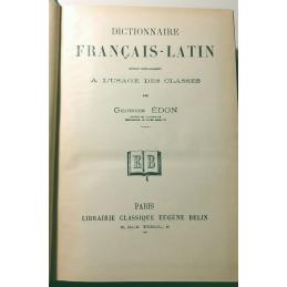 Dictionnaire français-latin. Page de titre.