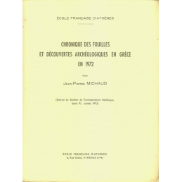 Chronique des fouilles et découvertes archéologiques en Grèce en 1972