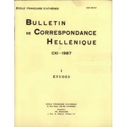 Bulletin de Correspondance Hellénique - CXI - 1987 - I Etudes