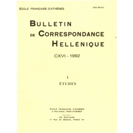 Bulletin de Correspondance Hellénique - CXVI - 1992- I - Etudes